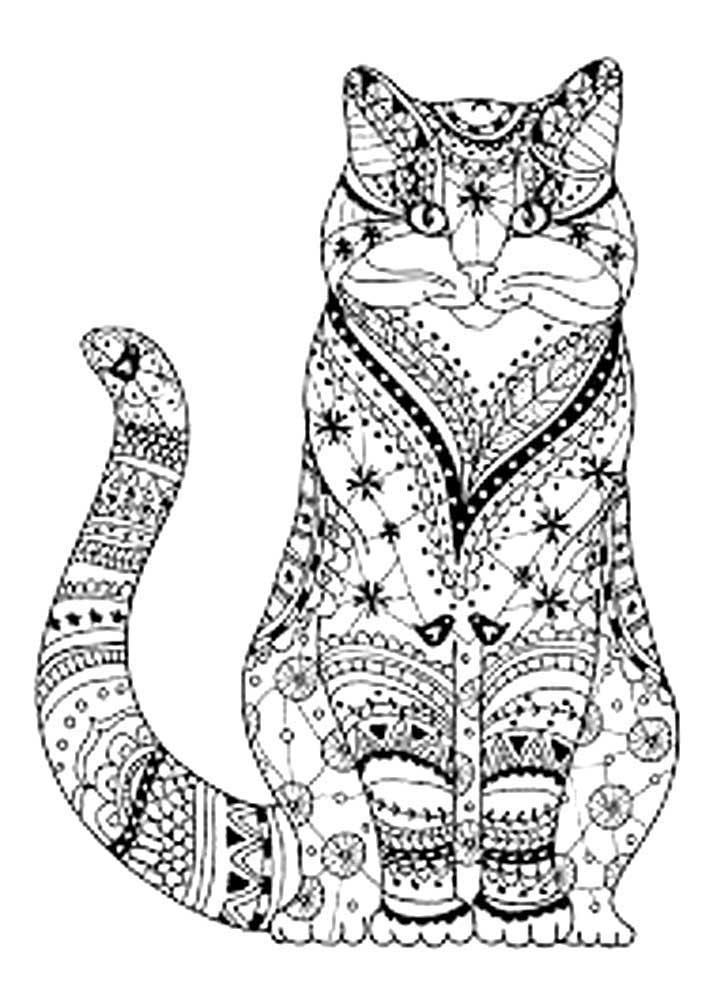 кошки картинки раскраски