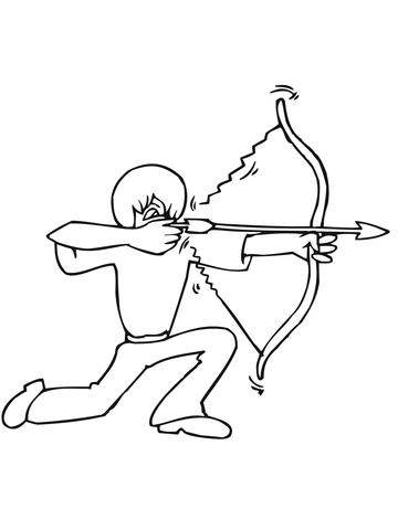 Спортивные раскраски для детей. Раскраски со стрельбой из лука. Раскраски для детей стрельба из лука. Спортивные раскраски для детей. Бесплатные детские раскраски. Скачать бесплатные раскраски для детей. Раскраски детские онлайн бесплатно.