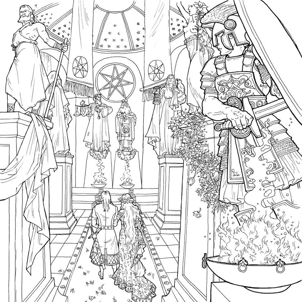 раскраски на тему игра престолов