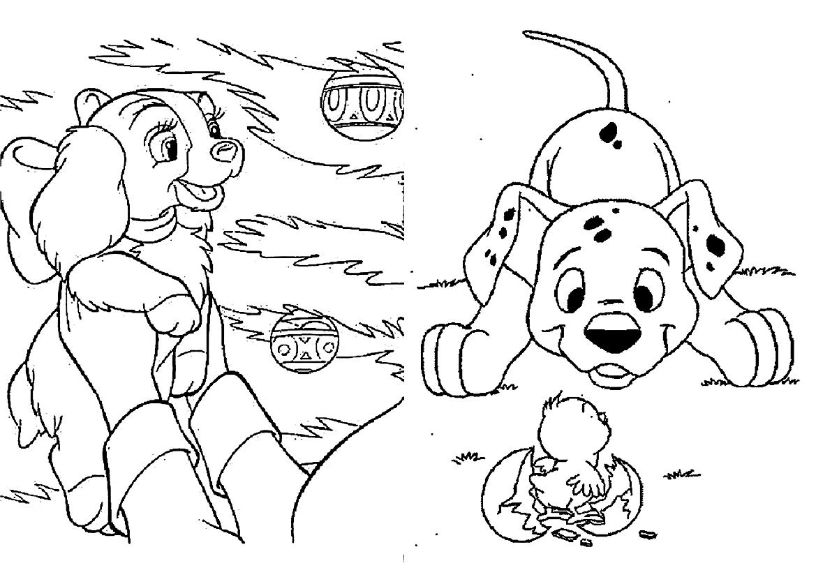 раскраски на тему 101 далматинец                раскраски на тему 101 далматинец для мальчиков и девочек. Интересные раскраски с персонажами мультфильма 101 далматинец для детей