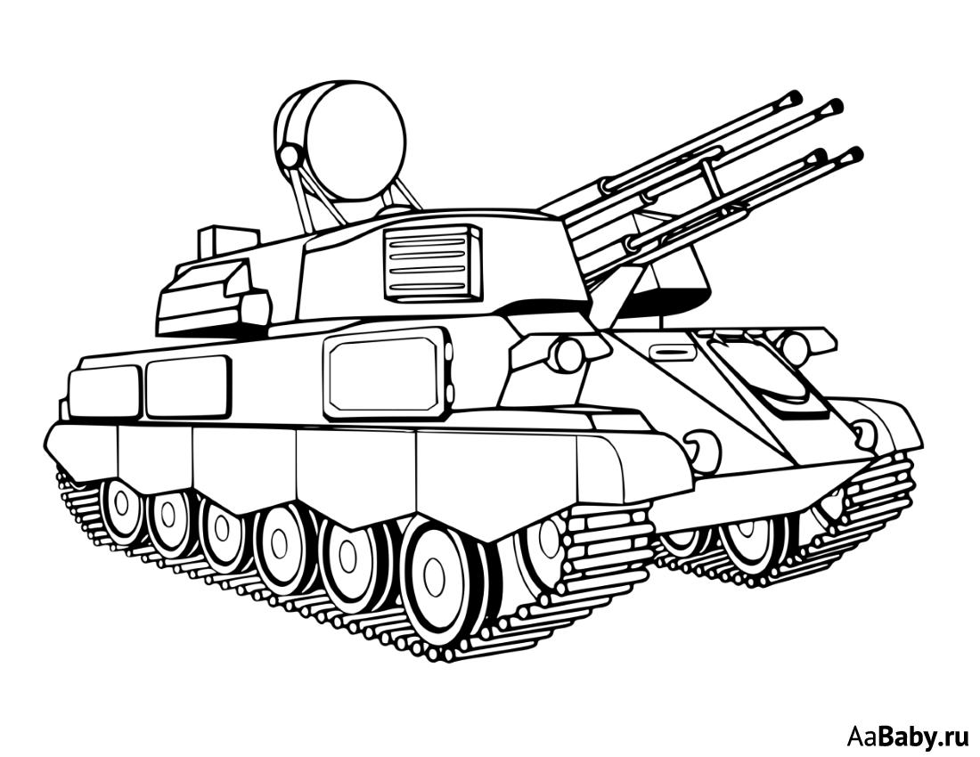 раскраски танки