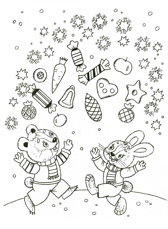 раскраски на тему день подарков для детей