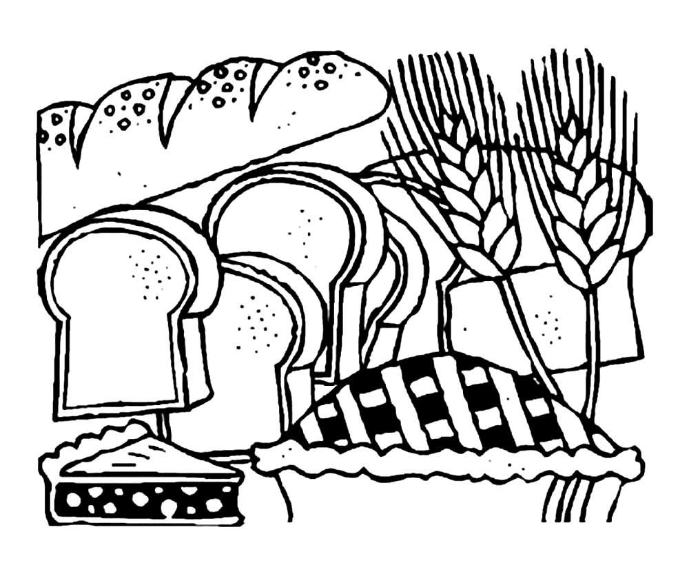 раскраски на тему день хлеба для детей   раскраски на тему день хлеба для детей. Интересные раскраски с хлебом, хлебобулочными изделиями для мальчиков и детей. Раскраски для детей