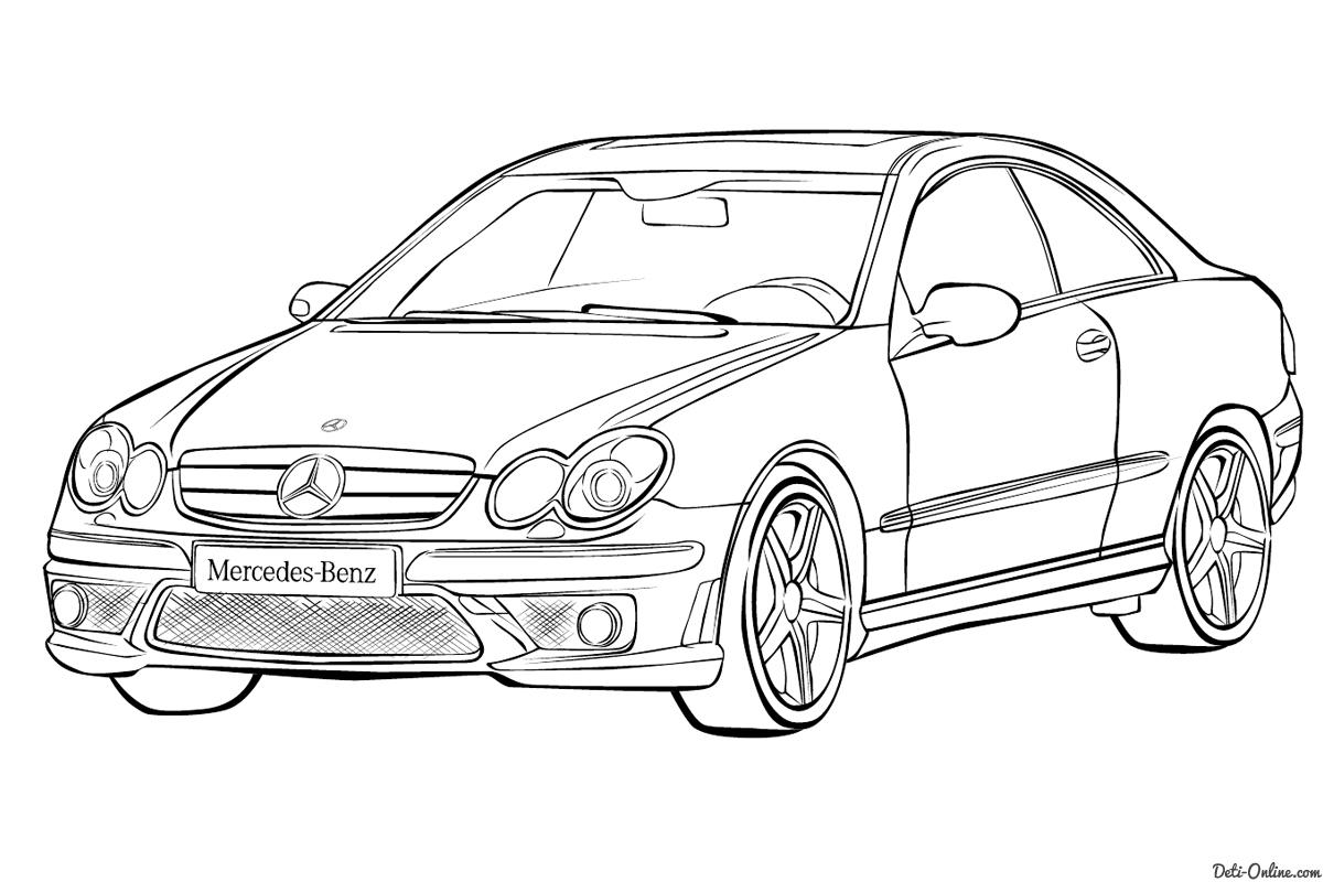 раскраски с машинами Mercedes Benz