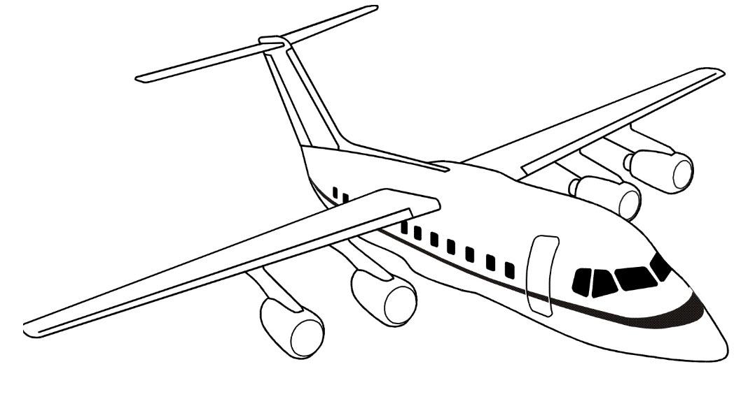 раскраски с самолетами для детей