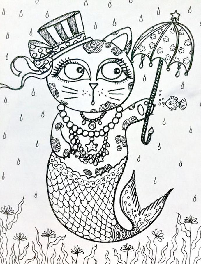 Раскраски на тему кошки. Раскраски антистресс с кошками.     Раскраски на тему кошки. Раскраски для детей и взрослых на тему животные, кошки. Раскраски с кошками, помогяющие снять стресс. Успокаивающие раскраски для арт-терапии.