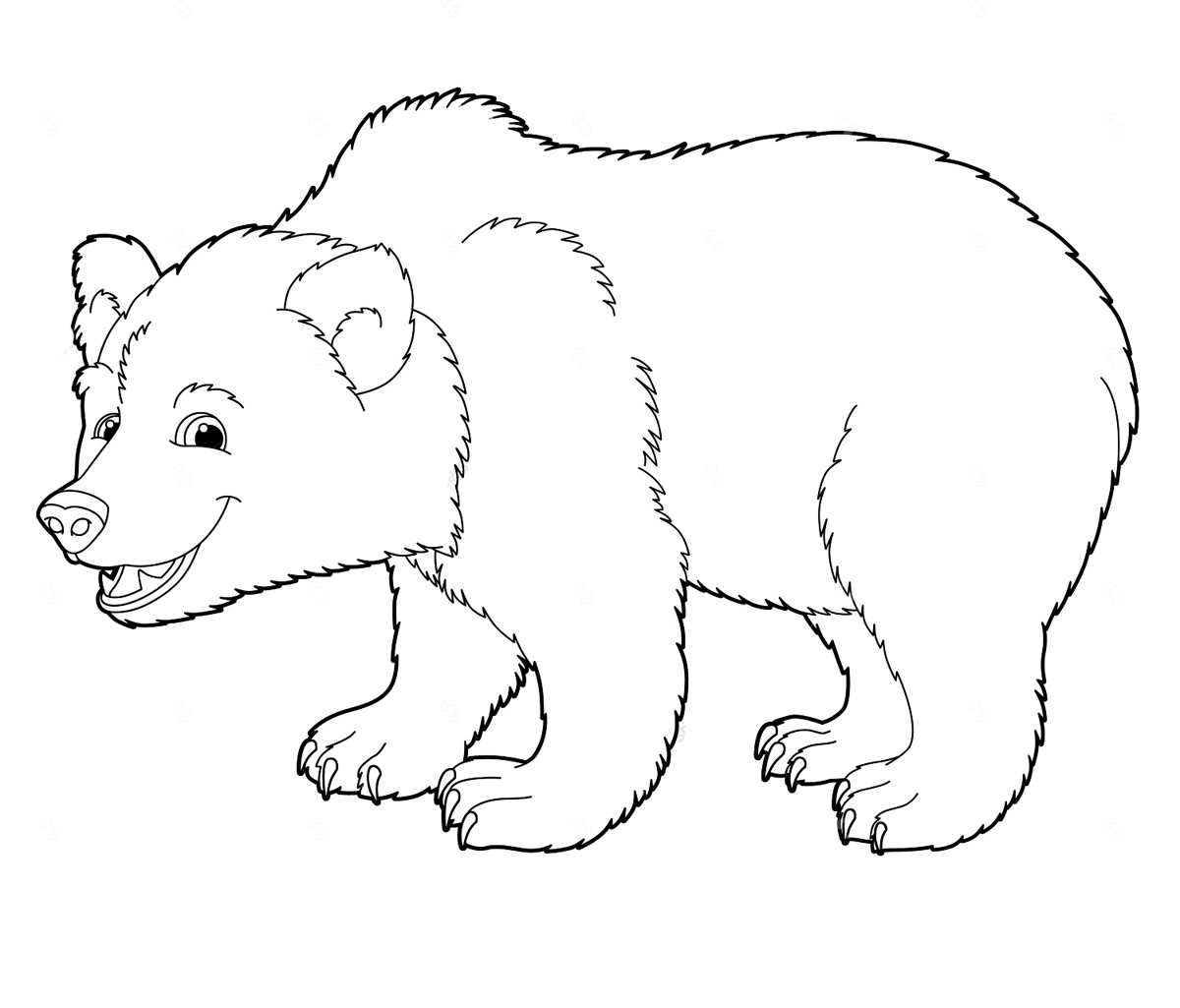 Картинка Раскраска Медведь