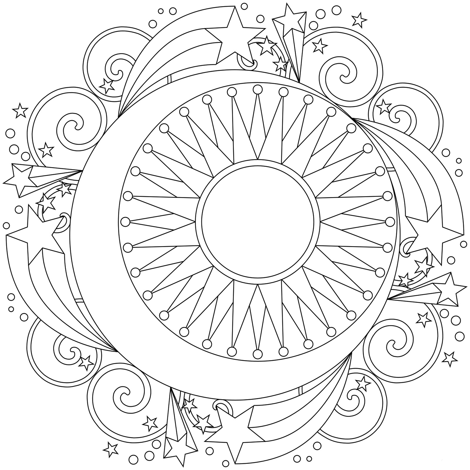 раскраски мандалы подходящие для релаксации для детей и ...