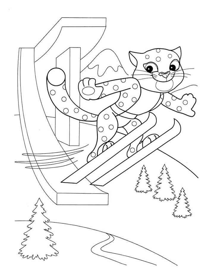 Интересные раскраски на тему международный день зимних видов спорта   раскраски на тему международный день зимних видов спорта для детей. Раскраски с зимними видами спорта для мальчиков и девочек