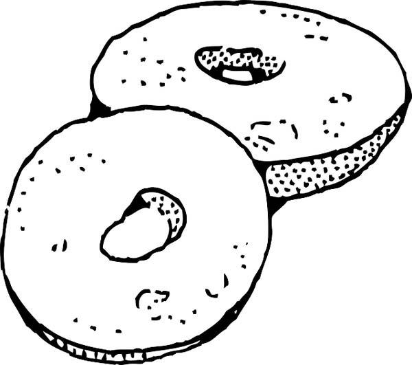 Пончики. Раскраски для детей на тему еда. Раскраски с пончиками.  Красивые раскраски на тему еда для детей. Разнообразные пончики в раскрасках. Раскраски с изображением различных сладостей, в частности пончиков. Раскраски с едой для детей.