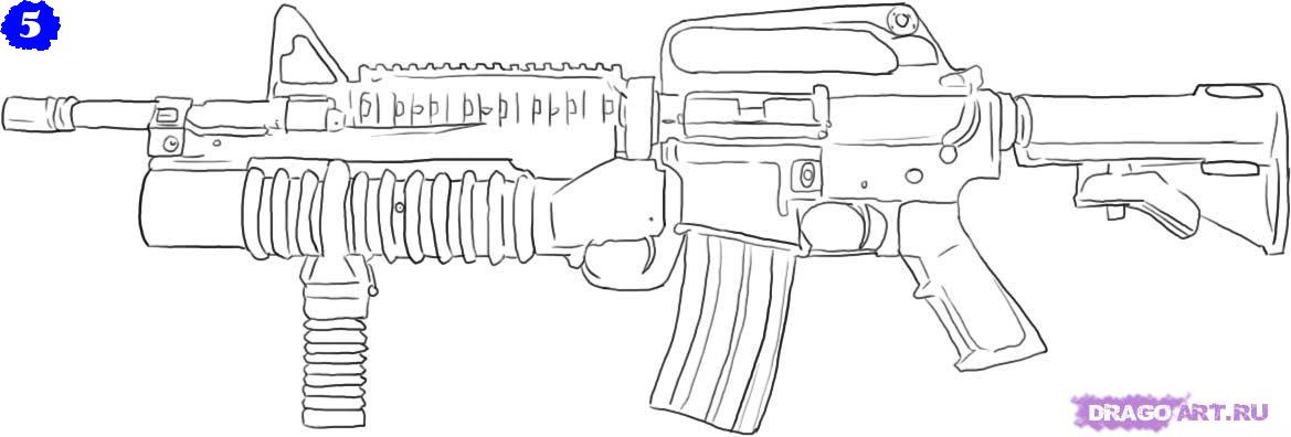 раскраски на которых изображены разные виды оружия ...