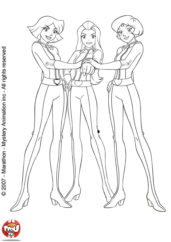 раскраски на тему Тотали Спайс             раскраски на тему тотали спайс для мальчиков и девочек. Интересные раскраски с Сэм, Кловер и Алекс для детей и взрослых. Тотали Спайс