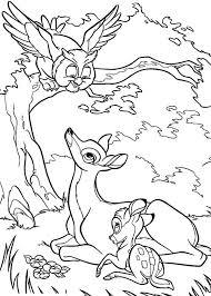 раскраски на тему Бемби                           раскраски на тему Бемби для мальчиков и девочек. Интересные раскраски с персонажами диснеевского мультфильма Бемби для детей и взрослых