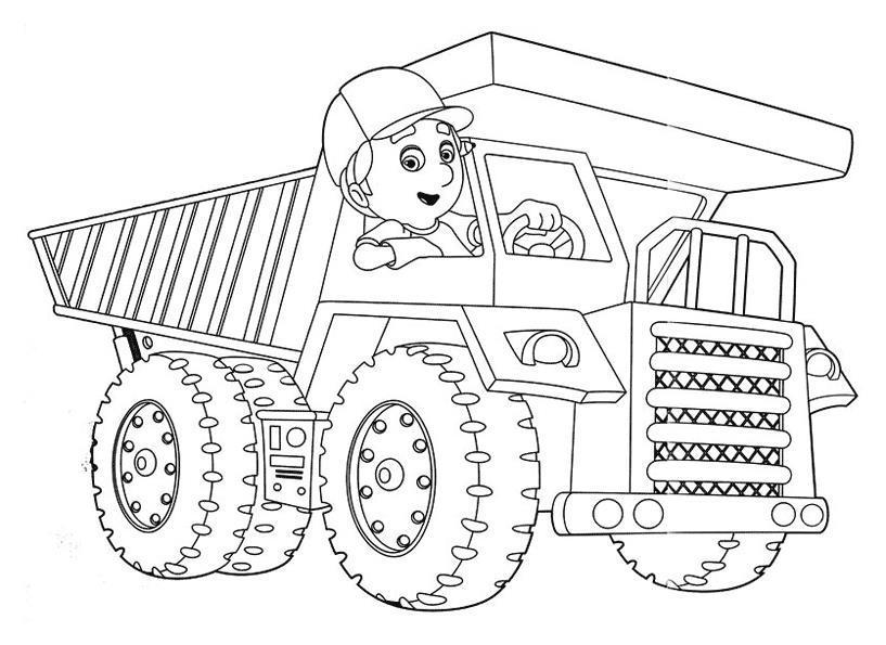 раскраски на тему самосвал для детей.  раскраски с самосвалом для мальчиков и девочек. Раскраски для детей