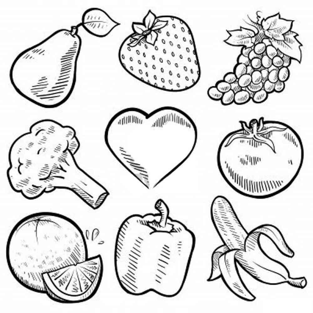 раскраски для малышей раскраски для детей с фруктами ягодами