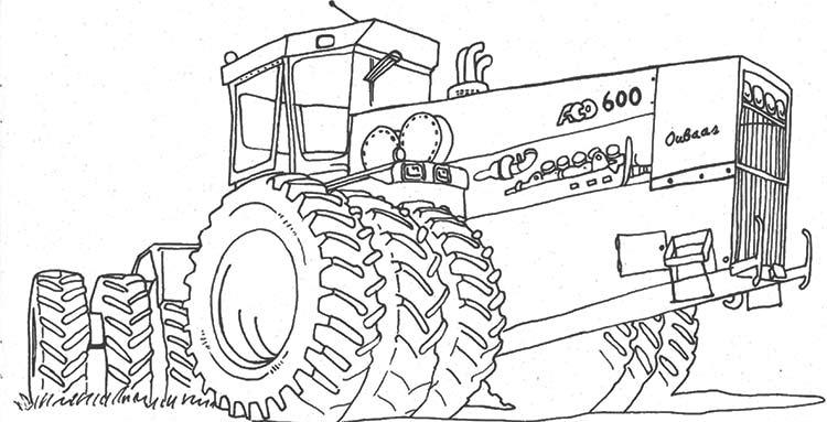 раскраски на которых изображены сельскохозяйственная техника