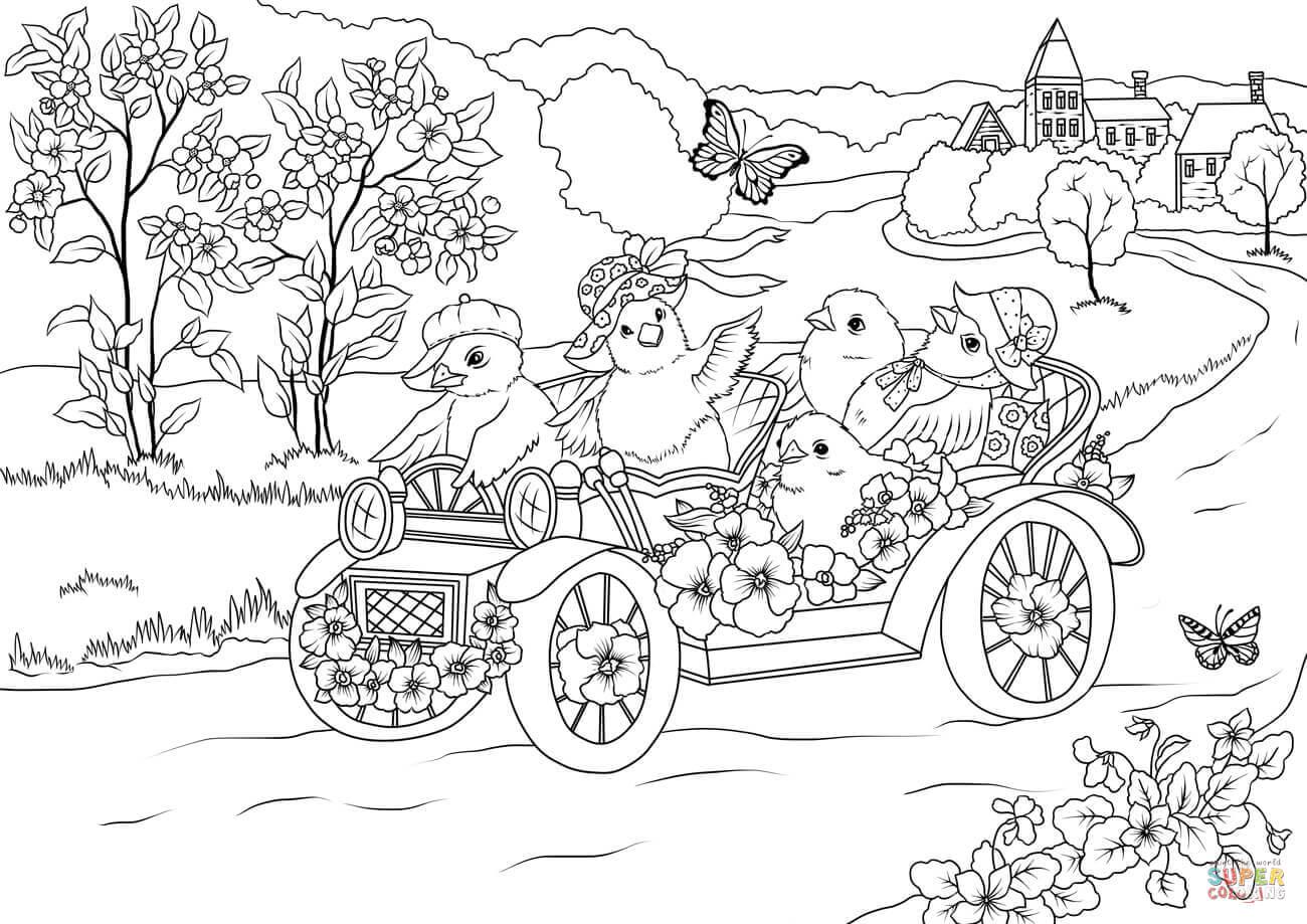 раскраски на тему весна для детей