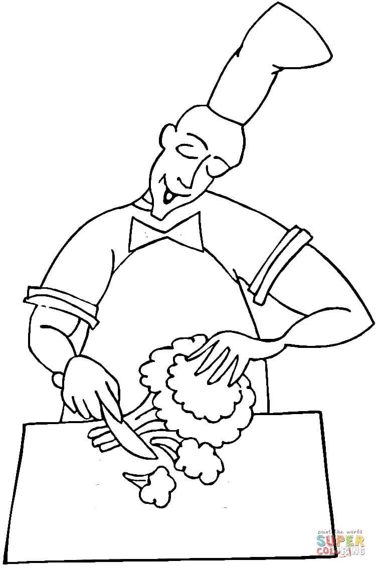раскраски детские с профессиями раскраски для детей с поваром