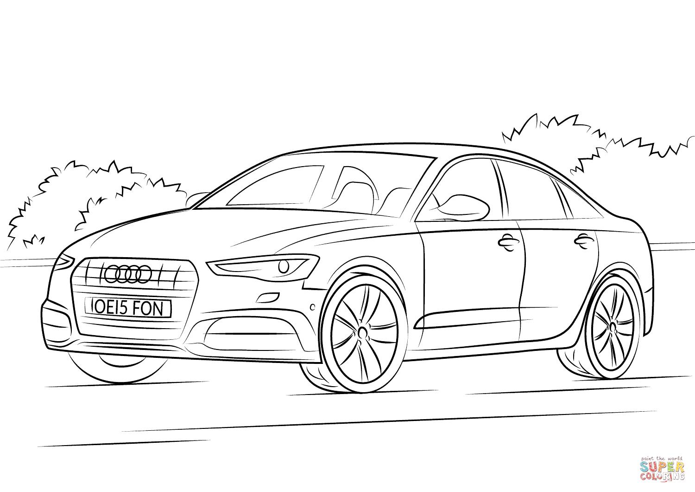 раскраски с машиной Audi для детей