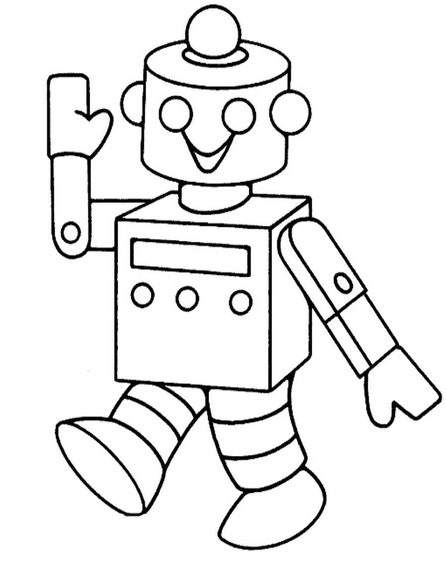 раскраски с роботами для детей
