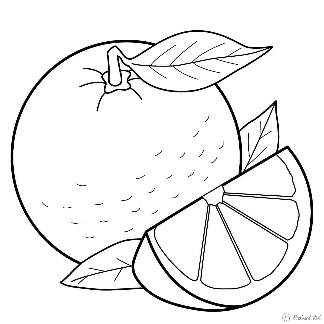 картинки фруктов и овощей для детей раскраски