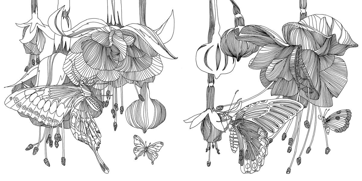 раскраски волшебные цветы