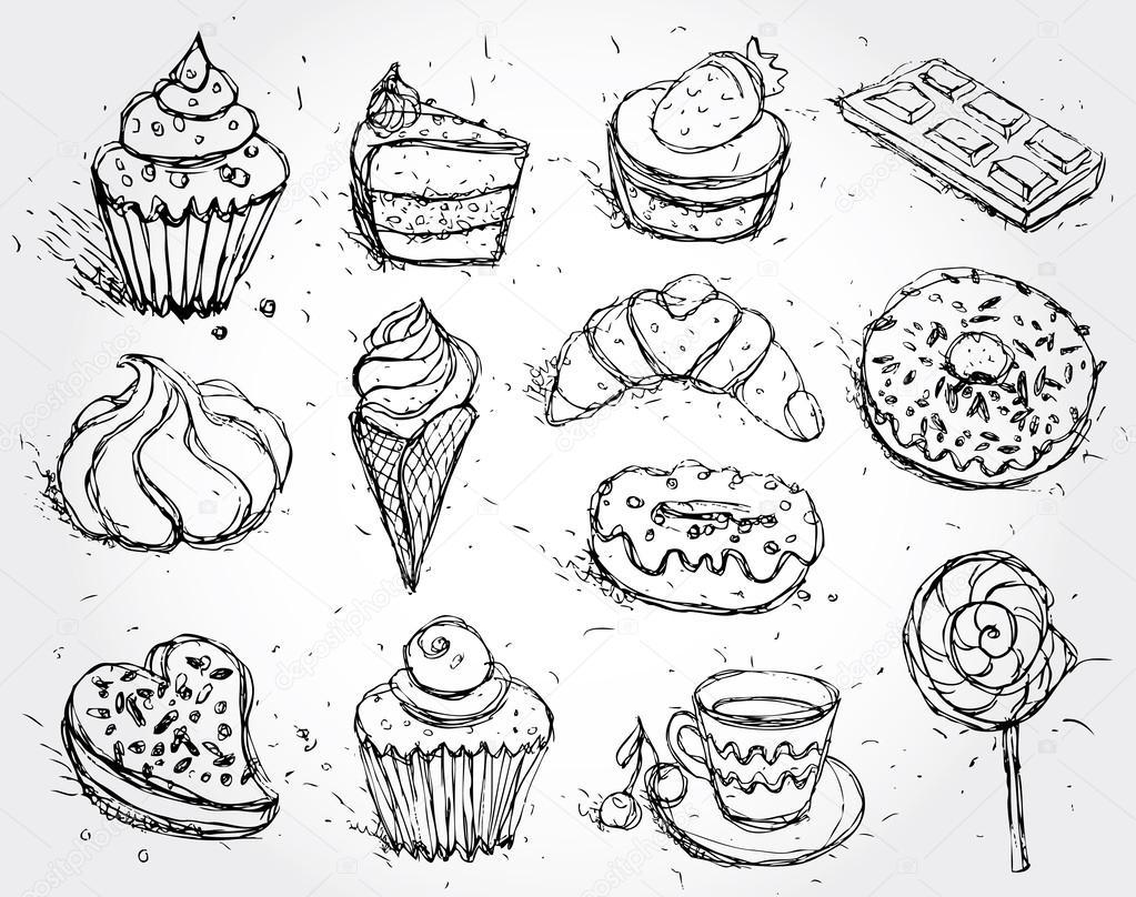 Раскраски для детей на тему еда. Раскраски на тему выпечка.   Раскраски для детей и малышей на тему еда. Раскраски на тему сладостей, в частности выпечки. Раскраски для детей с изображением еды. Раскраски выпечка.