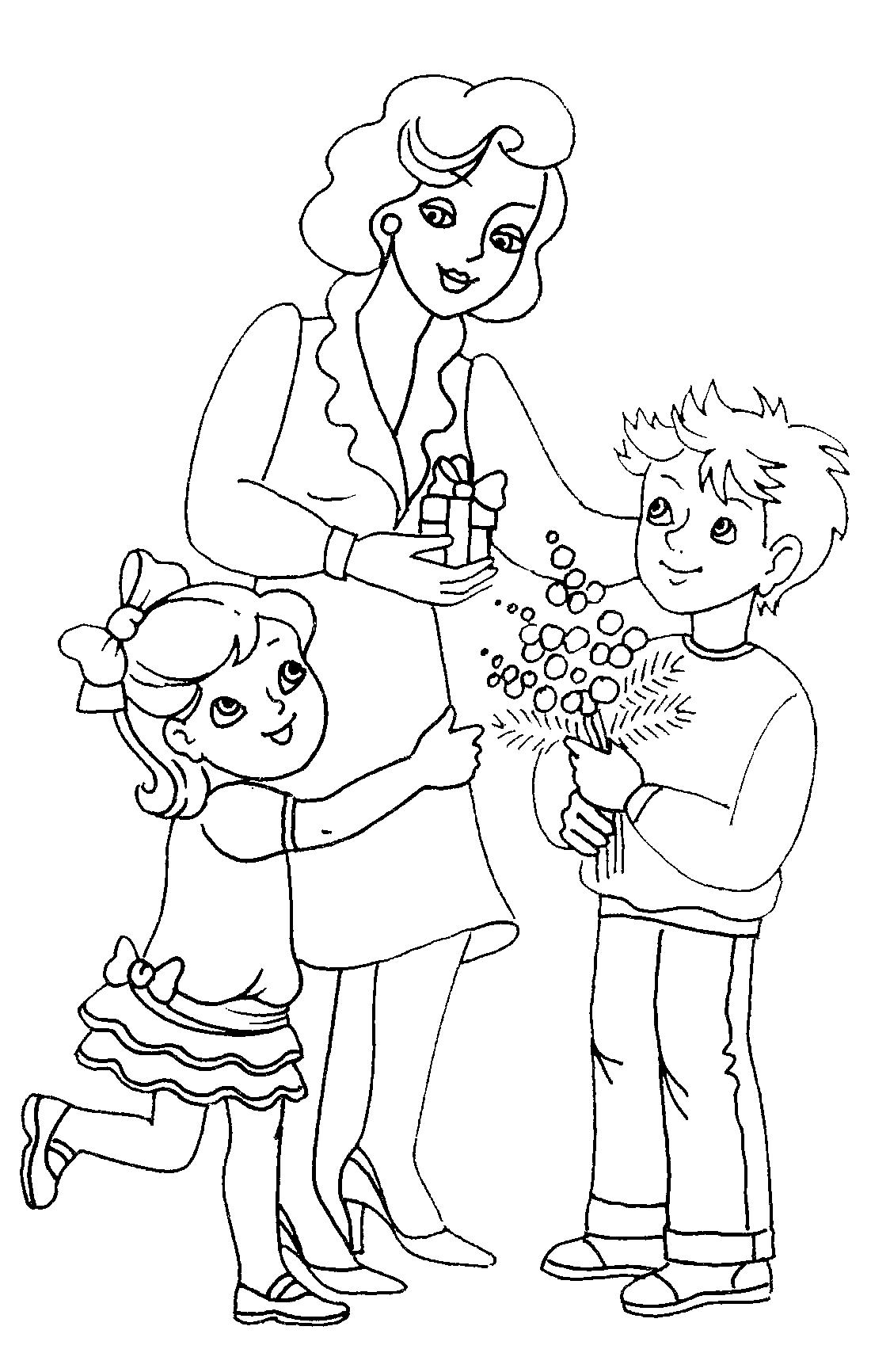 раскраски для детей на тему учитель