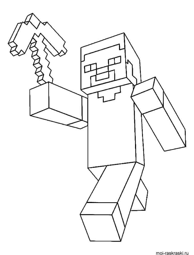 раскраски для мальчиков с играми раскраски для детей майнкрафт