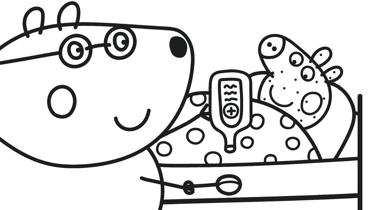 раскраски для детей с героями мультиков свинка пеппа