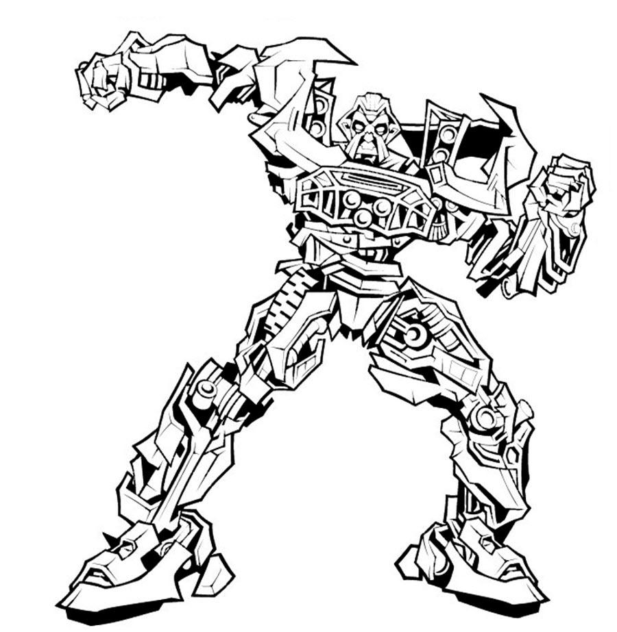 раскраски картинки роботы