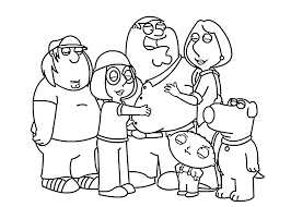 раскраски с гриффинами                  раскраски на тему гриффины для мальчиков и девочек. Интересные раскраски с персонажами мультсериала гриффины для детей и взрослых