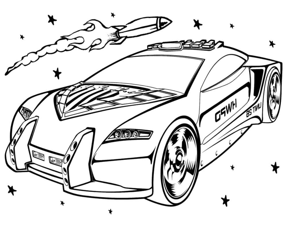 раскраски с гоночными машинами для детей