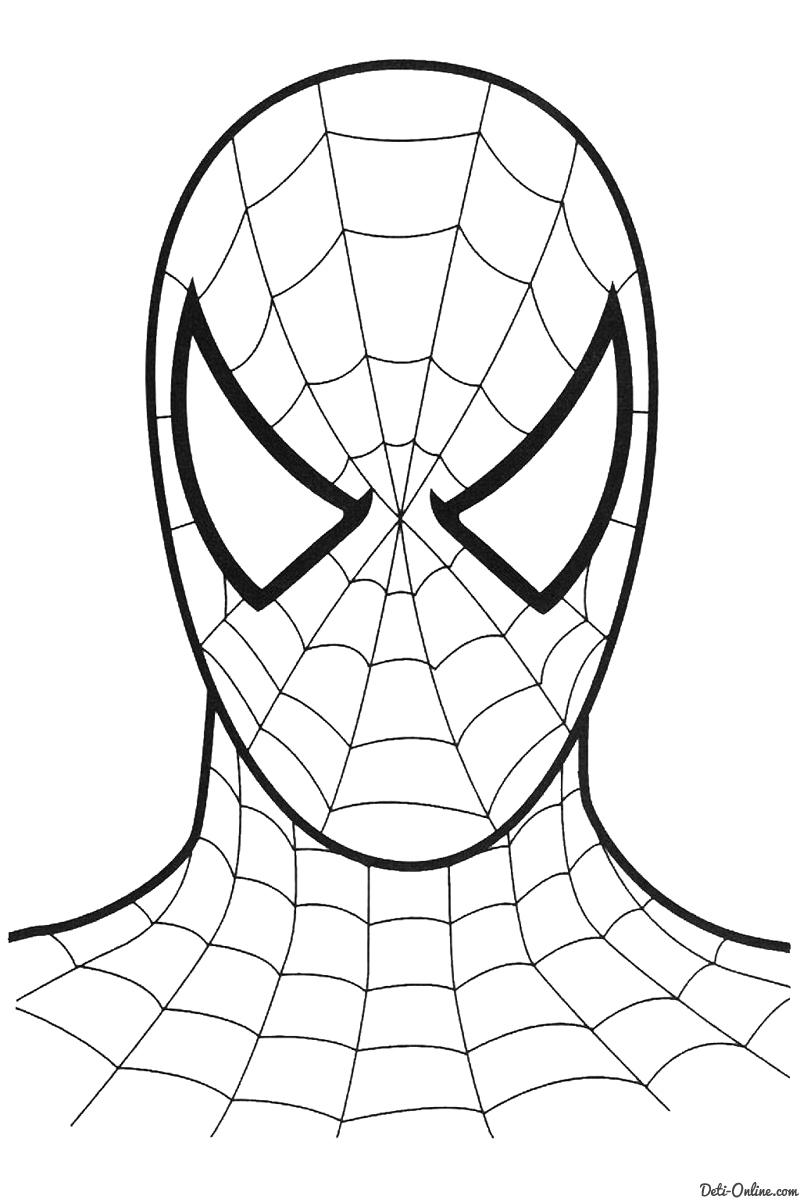 раскраски человек паук картинки
