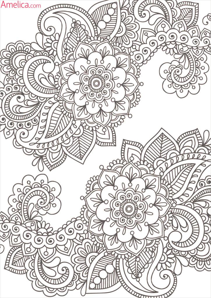 интересные и красивые раскраски с орнаментами