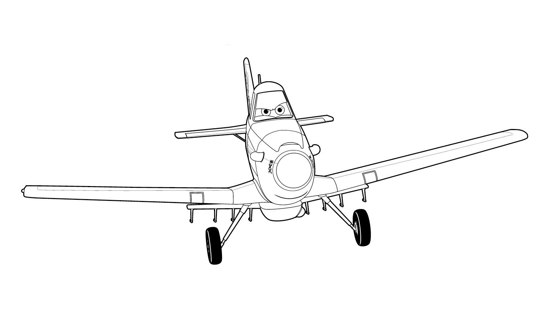раскраски с самолетами дисней
