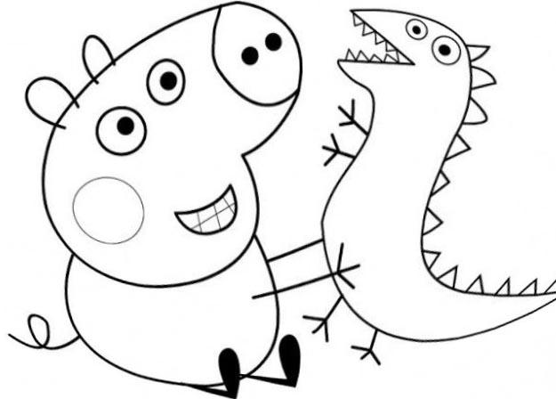 познавательные и забавные раскраски для детей про свинку пеппу
