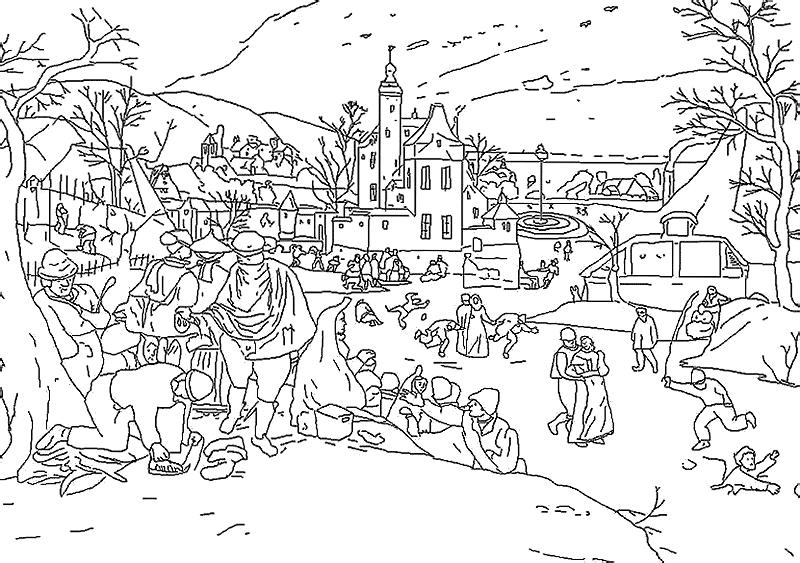 бесплатные детские раскраски с временами года раскраски
