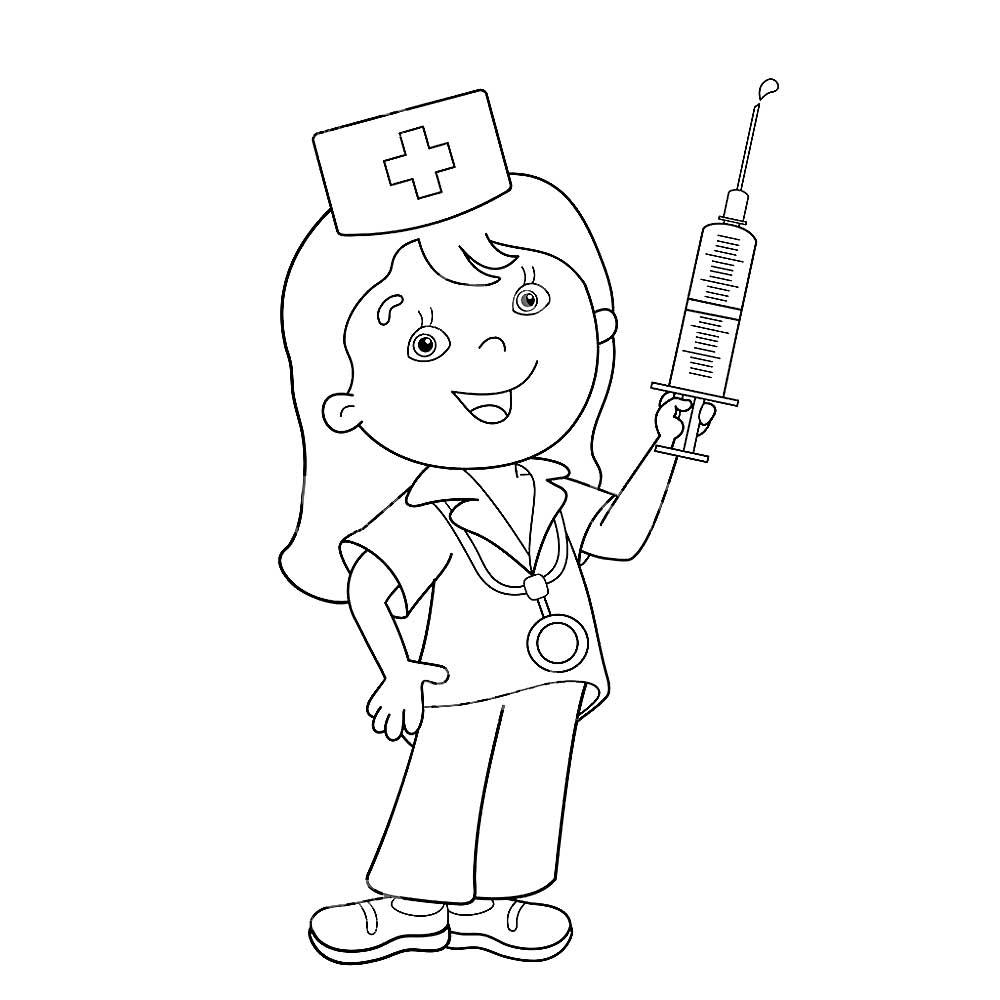 раскраски для детей на тему врач