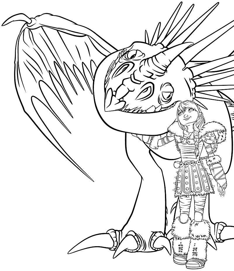 раскраски для детей как приручить дракона скачать бесплатные