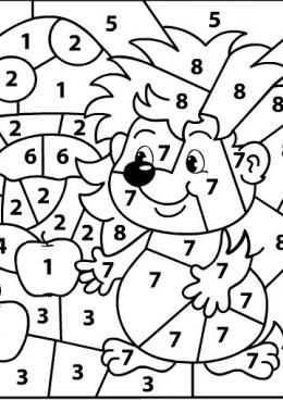 раскраски по цифрам для детей