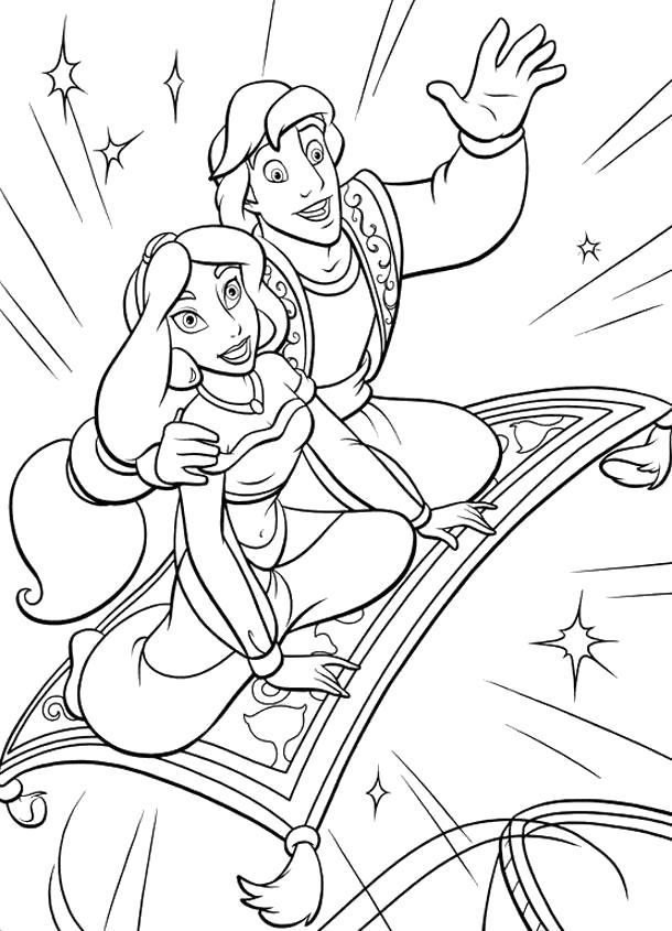раскраски на тему алладин                   раскраски на тему Аладдин для мальчиков и девочек.  раскраски с персонажами диснеевского мульфильма Аладдин