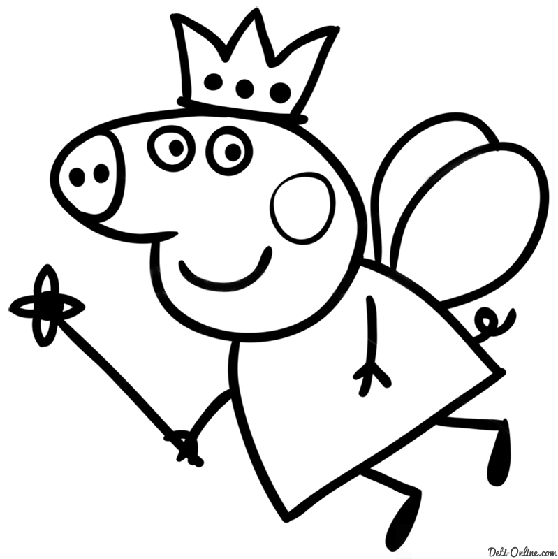 раскраски на тему свинка пеппа для детей