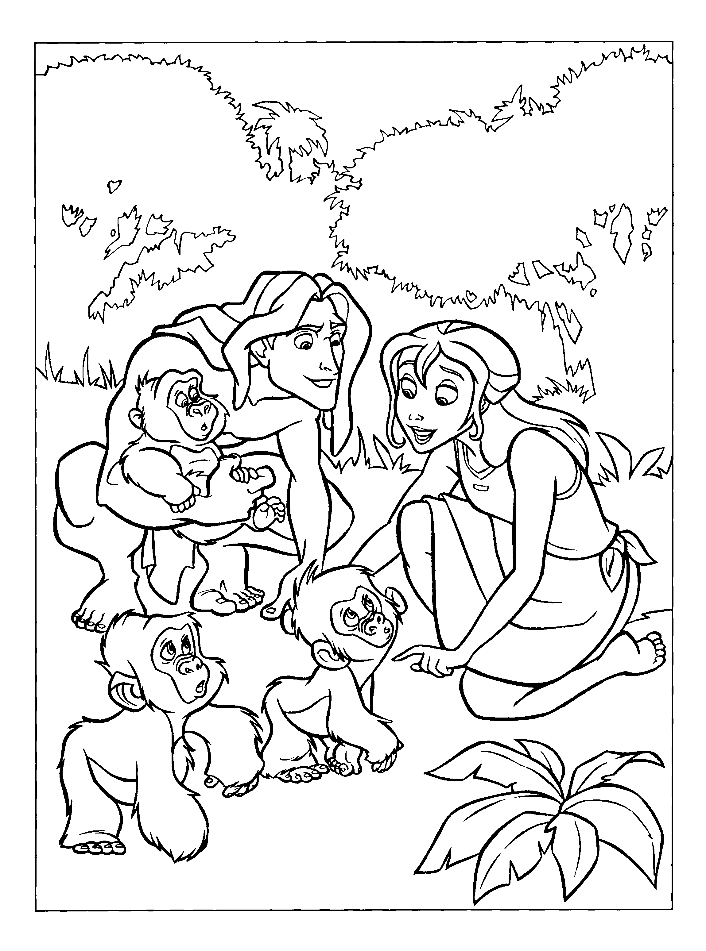 раскраски на тему тарзан                     раскраски на тему тарзан для мальчиков и девочек. Интересные раскраски с персонажами диснеевского мультфильма Тарзна для детей и взрослых