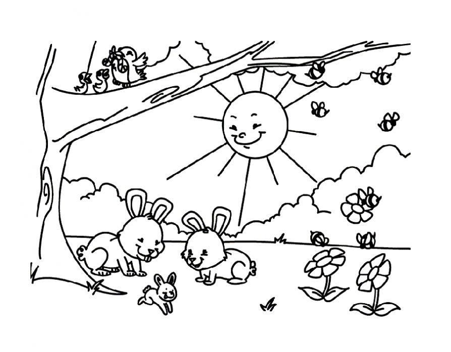 скачать бесплатные раскраски для детей с природой раскраски