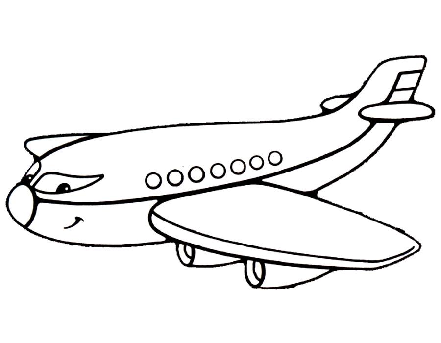 самолет раскраски картинки