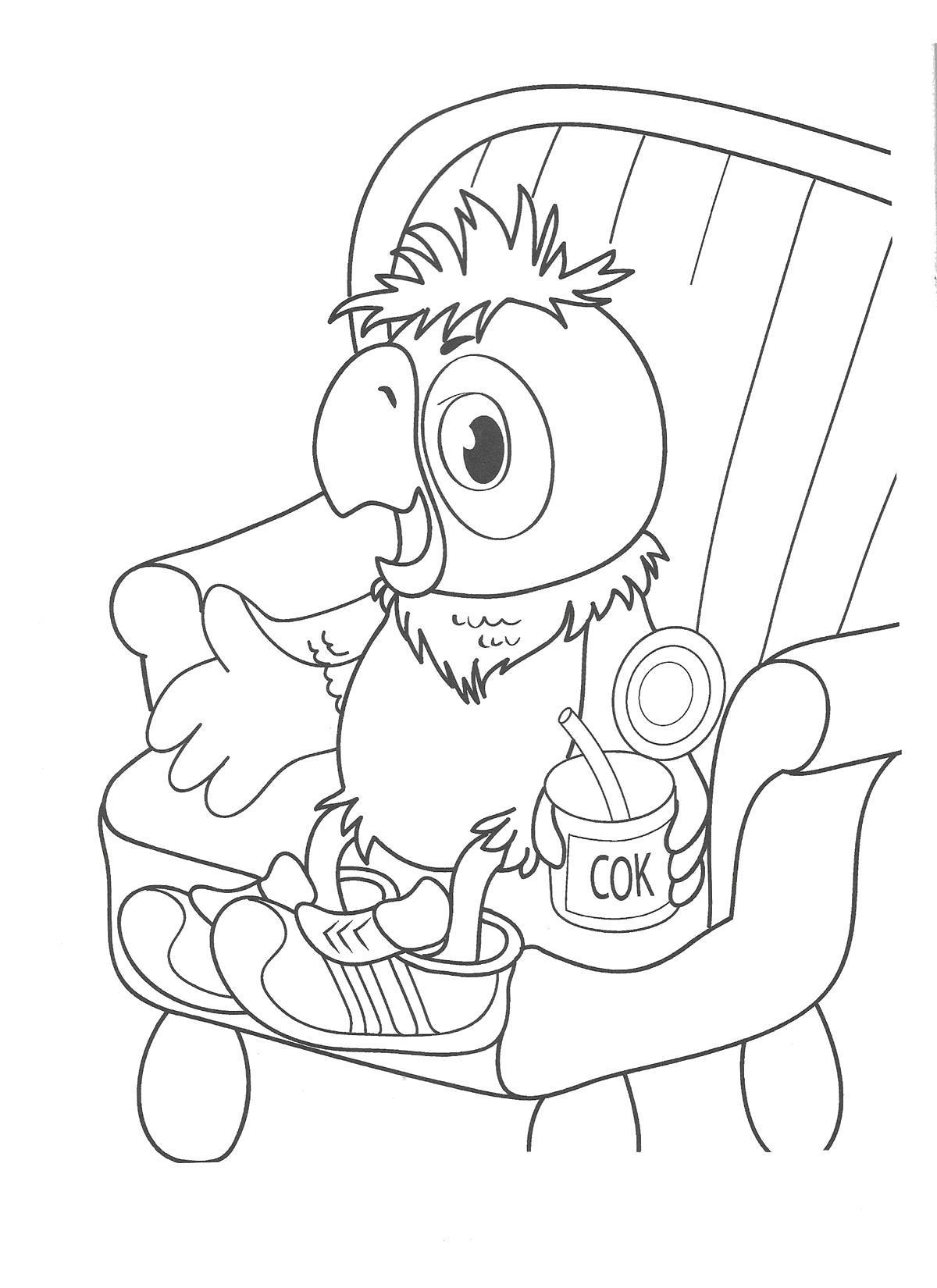 раскраски возвращение блудного попугая раскраски для малышей