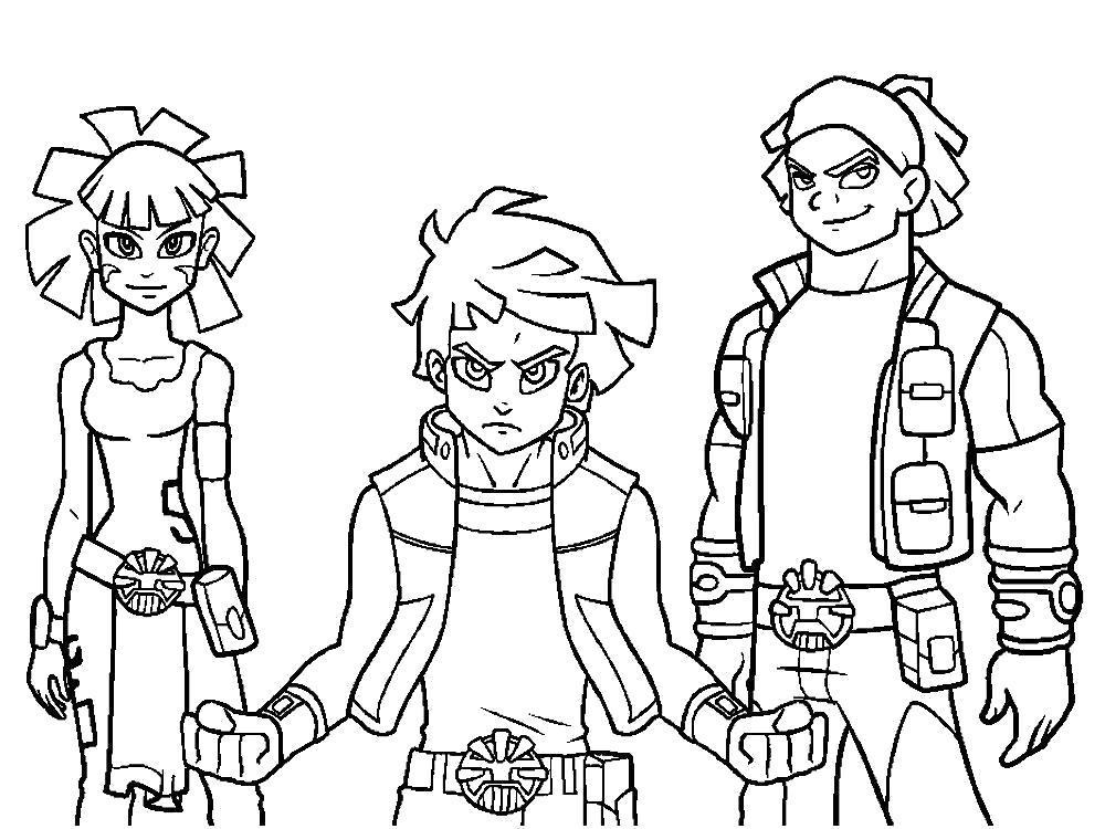раскраски персонажей из аниме