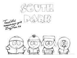Южный парк раскраски на тему южный парк