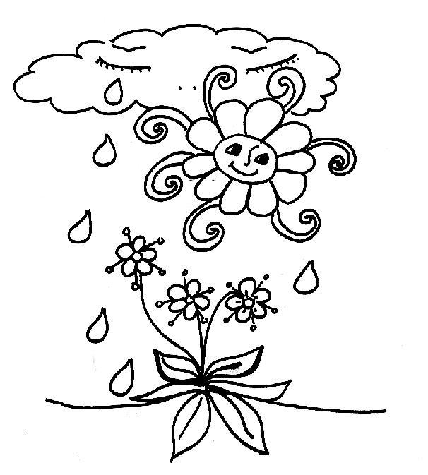 Раскраски природные явления Раскраски природные явления для школьников, дождь, снег, радуга